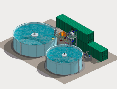 Wastewater treatment plant and hydrocarbon recovery