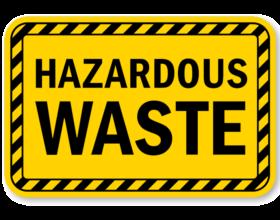 Treatment plant for hazardous wastes